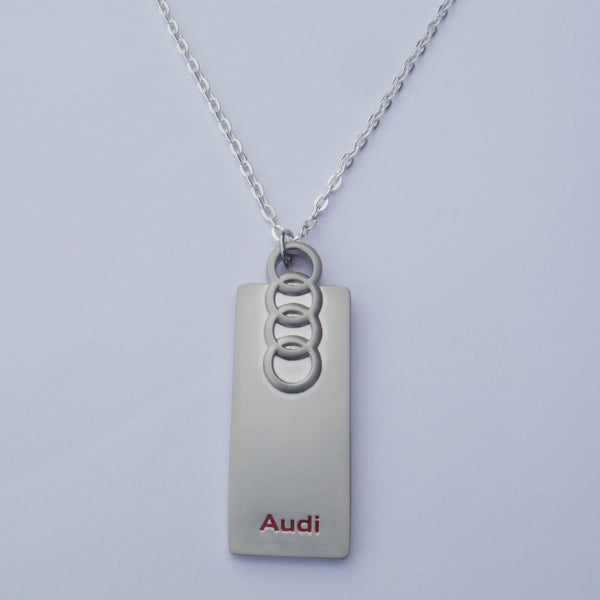 AUDI Logo Black Necklace Pendant