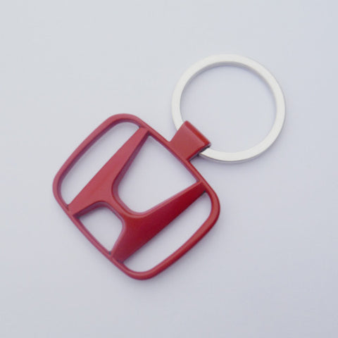 Honda Red Logo Keychain Chrome Keyring