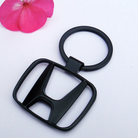 Honda Satin Matte Black Keychain Key ring