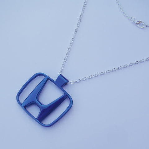 Honda Blue Necklace Pendant Mirror Dangler