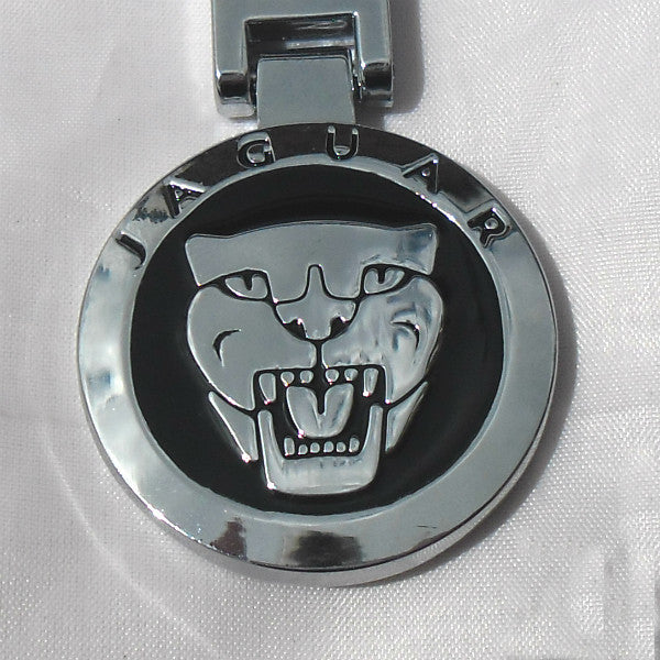 Jaguar Chrome Keychain