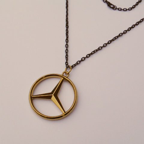 Mercedes Benz Gold Pendant Necklace