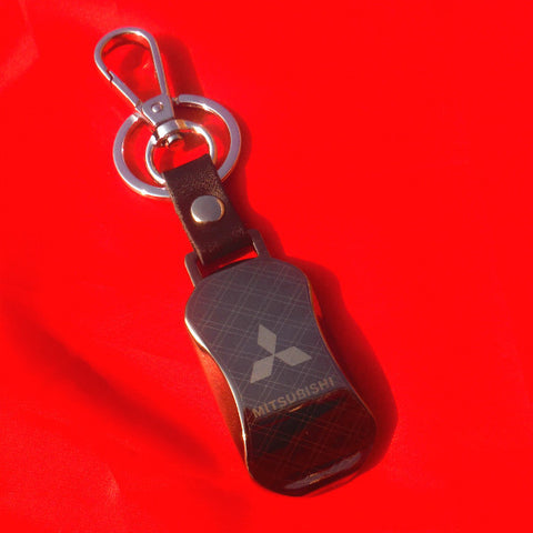 Mitsubishi Leather Keyring