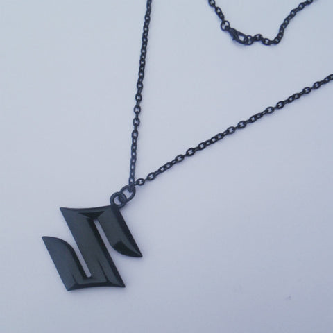Suzuki Logo Black Pendant Necklace Dangler