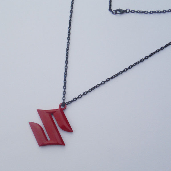 Suzuki Logo Red Pendant Necklace Dangler