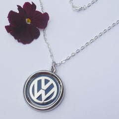 VW Blue Green Keyring and Necklace
