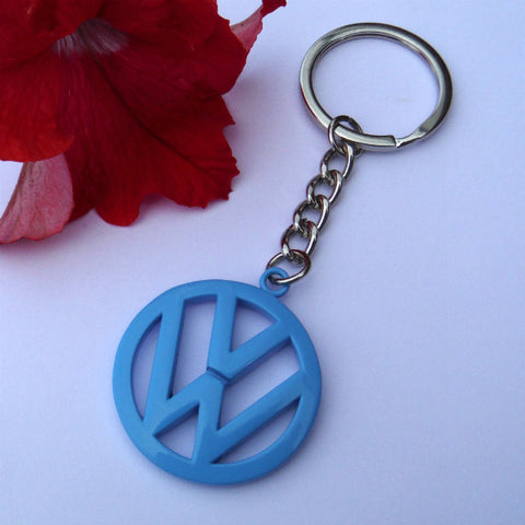 VW Campervan Key Ring Blue