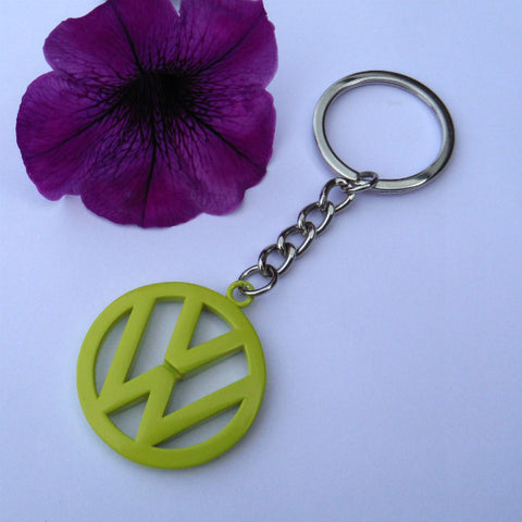 VW Campervan Key Ring Yellow