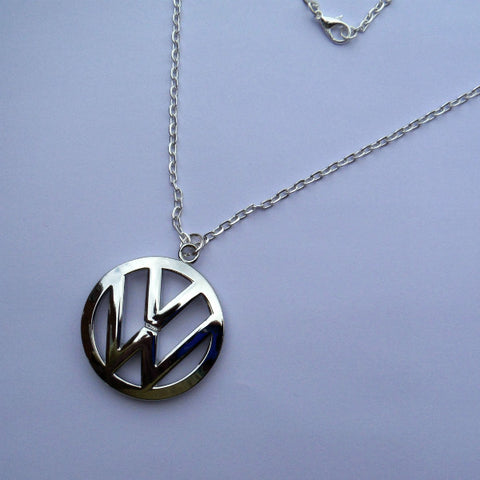 VW Campervan Necklace Silver Chrome