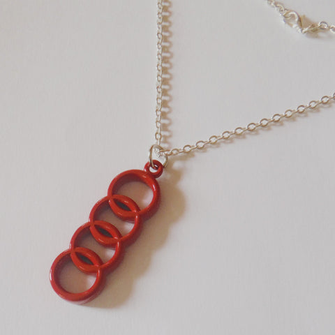 Audi Red Necklace Pendant