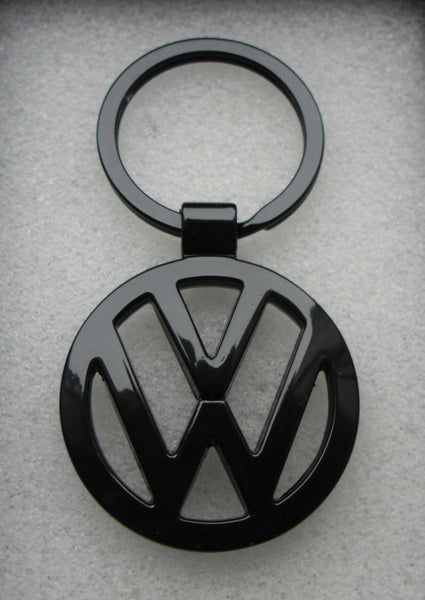 VW Black Emblem Badge Keyring Volkswagen