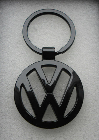 VW Volkswagen Gloss Black Keyring.