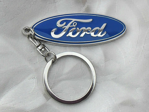 Ford Emblem Keyring Chrome