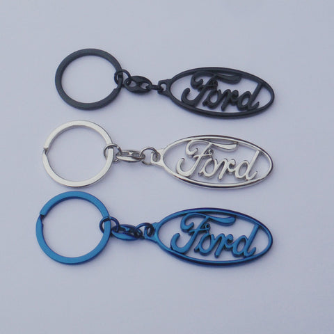 Ford Logo Keyring Chrome