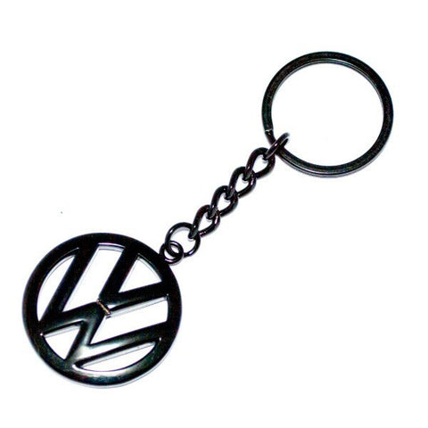 VW Volkswagen Black Chain Keyring.