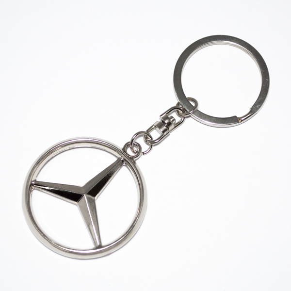 mercedes benz merc keyring chrome keychain ideal gift a c
