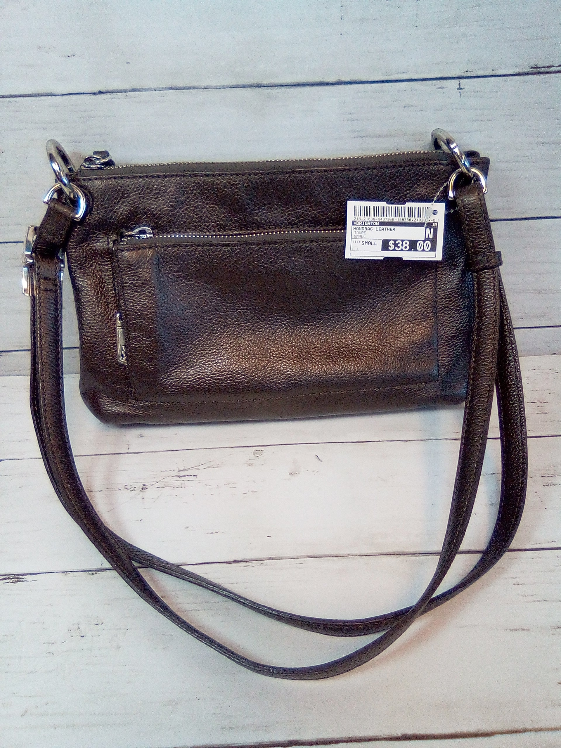 Primary Photo - BRAND: BRIGHTON <BR>STYLE: HANDBAG LEATHER <BR>COLOR: TAUPE <BR>SIZE: SMALL <BR>SKU: 216-21638-64379