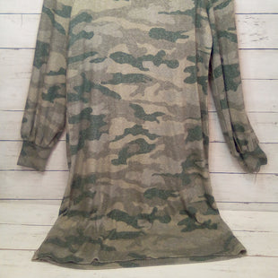 Primary Photo - BRAND: LUCKY BRAND STYLE: DRESS SHORT LONG SLEEVE COLOR: CAMOFLAUGE SIZE: S OTHER INFO: NEW! GREEN/BEIGE SKU: 216-21638-66884