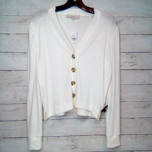 Primary Photo - BRAND: ANN TAYLOR LOFT STYLE: SWEATER CARDIGAN LIGHTWEIGHT COLOR: WHITE SIZE: M OTHER INFO: NEW! SKU: 216-21612-85171