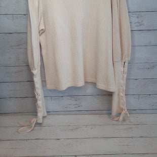 Primary Photo - BRAND: FREE PEOPLE STYLE: TOP LONG SLEEVE COLOR: CREAM SIZE: L SKU: 216-21612-86475