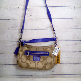 Primary Photo - BRAND: COACH STYLE: HANDBAG DESIGNER COLOR: TAN SIZE: SMALL OTHER INFO: POPPY CROSSBODY W/PURPLE SKU: 216-21612-83819