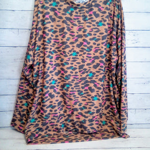 Primary Photo - BRAND: WHITE BIRCH STYLE: TOP LONG SLEEVE COLOR: LEOPARD PRINT SIZE: 2X OTHER INFO: BROWN SKU: 216-21612-84001