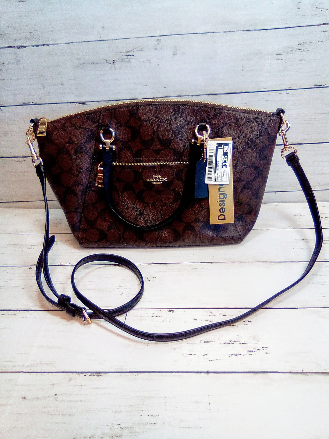 Primary Photo - BRAND: COACH <BR>STYLE: HANDBAG DESIGNER <BR>COLOR: BROWN <BR>SIZE: SMALL <BR>OTHER INFO: NEW!  SIG PRAIRIE SATCHEL <BR>SKU: 216-21612-83451