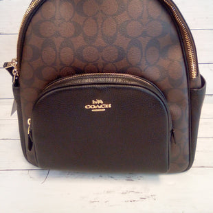 Primary Photo - BRAND: COACH STYLE: BACKPACK COLOR: BROWN SIZE: MEDIUM OTHER INFO: COURT SIGNATURE SKU: 216-21644-15163
