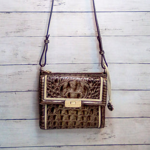 Primary Photo - BRAND: BRAHMIN STYLE: HANDBAG DESIGNER COLOR: BROWN SIZE: SMALL OTHER INFO: MELBOURNE MANHATTAN CROC SKU: 216-21612-88196