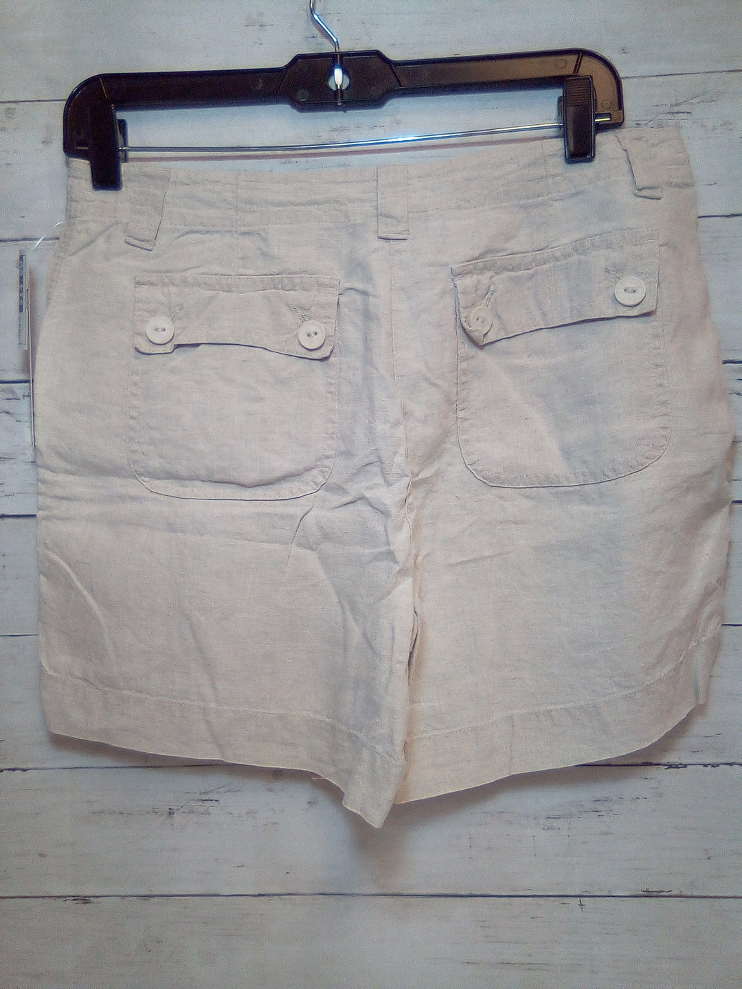 Photo #1 - BRAND: TALBOTS <BR>STYLE: SHORTS <BR>COLOR: CREAM <BR>SIZE: 6PETITE <BR>SKU: 216-21671-376