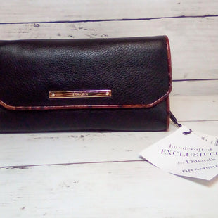 Primary Photo - BRAND: BRAHMIN STYLE: WALLET COLOR: BLACK SIZE: LARGE OTHER INFO: NEW!  SOFT CHECKBOOK SKU: 216-21612-88199