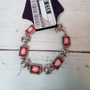 Primary Photo - BRAND: BRIGHTON O STYLE: BRACELET COLOR: SILVER OTHER INFO: W/RED SKU: 216-21638-65483