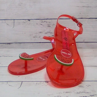 Primary Photo - BRAND: KATY PERRYSTYLE: SANDALS FLAT COLOR: RED SIZE: 7 OTHER INFO: KATY PERRY - NEW! THE GELI-WATERMELON SKU: 216-21638-64296