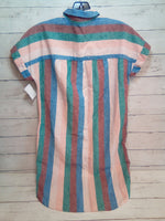 Photo #1 - BRAND: MADEWELL <BR>STYLE: DRESS SHORT SHORT SLEEVE <BR>COLOR: STRIPED <BR>SIZE: XXS <BR>SKU: 216-21612-85594