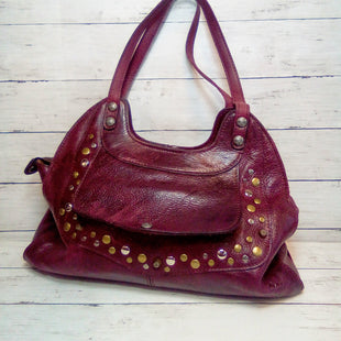 Primary Photo - BRAND: PATRICIA NASH STYLE: HANDBAG DESIGNER COLOR: PLUM SIZE: LARGE OTHER INFO: STUDDED SHOULDER BAG SKU: 216-21612-88193