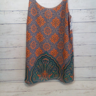 Primary Photo - BRAND: CABI STYLE: TOP SLEEVELESS COLOR: MULTI SIZE: S OTHER INFO: TAUPE/TEAL/ORANGE SKU: 216-21612-87977