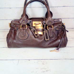 Primary Photo - BRAND: CHLOE STYLE: HANDBAG DESIGNER COLOR: BROWN SIZE: LARGE OTHER INFO: PADDINGTON SATCHEL OTHER INFO: DOUBLE TOP ZIPOTHER INFO:. WORKING KEY WITH REMOVABLE LOCKSKU: 216-21612-85130