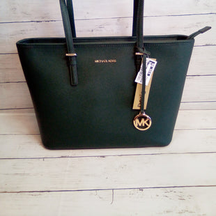 Primary Photo - BRAND: MICHAEL BY MICHAEL KORS STYLE: HANDBAG DESIGNER COLOR: GREEN SIZE: LARGE OTHER INFO: JET SET TOPZIP TOTESKU: 216-21638-64788