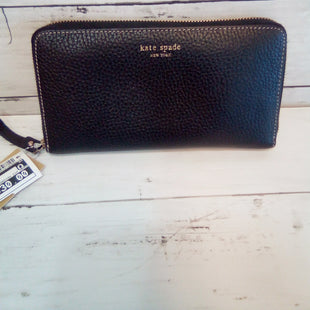 Primary Photo - BRAND: KATE SPADE STYLE: WALLET COLOR: BLACK SIZE: LARGE OTHER INFO: PEBBLED LEATHER ACCORDIAN ZIP AROUND SKU: 216-21612-88111