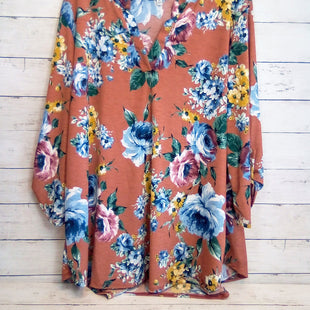 Primary Photo - BRAND: WHITE BIRCH STYLE: TOP LONG SLEEVE COLOR: FLORAL SIZE: 2X OTHER INFO: BROWN SKU: 216-21612-83976