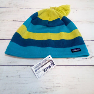 Primary Photo - BRAND: PATAGONIA STYLE: HAT COLOR: STRIPED OTHER INFO: BLUE/LIME BEENIE SKU: 216-21638-64862