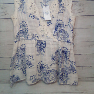 Primary Photo - BRAND: CABI STYLE: TOP SLEEVELESS COLOR: WHITE BLUE SIZE: MOTHER INFO: NEW! SKU: 216-21612-87961