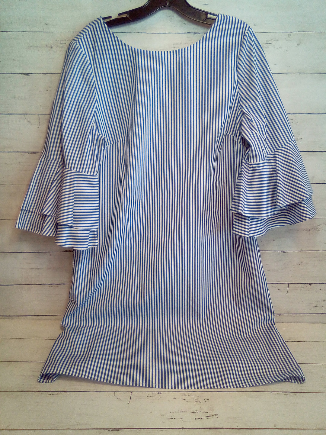 Primary Photo - BRAND: NINE WEST APPAREL <BR>STYLE: DRESS SHORT LONG SLEEVE <BR>COLOR: STRIPED <BR>SIZE: L <BR>OTHER INFO: BLUE/WHITE <BR>SKU: 216-21644-14783