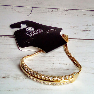 Primary Photo - BRAND: PARK LANE STYLE: BRACELET COLOR: GOLD OTHER INFO: GOLD W/RHINESTONES SKU: 216-21612-83805
