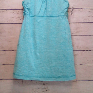 Primary Photo - BRAND: LULULEMON STYLE: ATHLETIC TANK TOP COLOR: TURQUOISE SIZE: S OTHER INFO: 6 W/WHITE SKU: 216-21638-66815