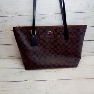 Primary Photo - BRAND: COACH STYLE: HANDBAG DESIGNER COLOR: BROWN SIZE: MEDIUM OTHER INFO: COATED CANVAS SIG ZIP TOTE SKU: 216-21638-64786