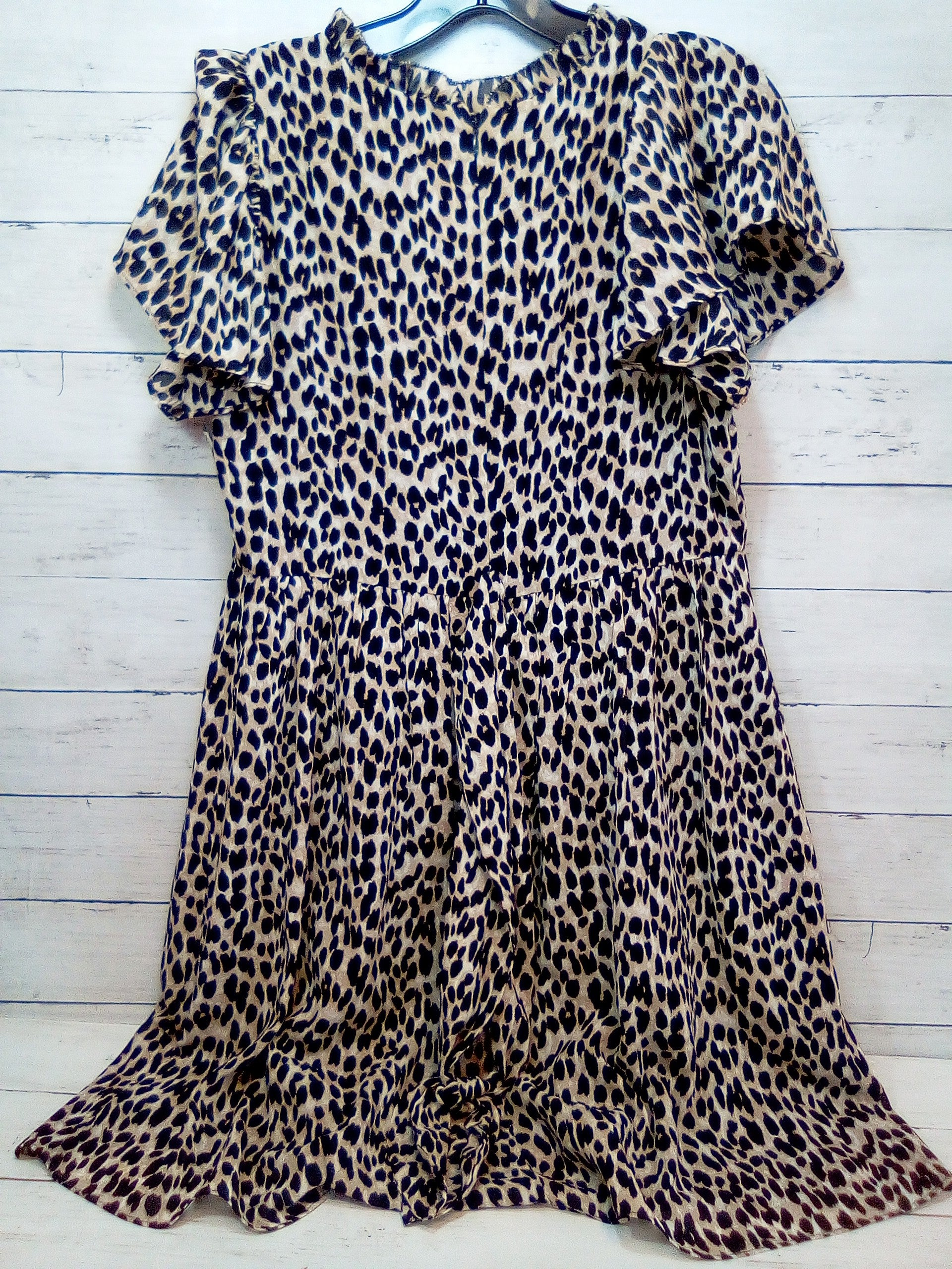 Photo #1 - BRAND: ANN TAYLOR LOFT <BR>STYLE: DRESS SHORT SHORT SLEEVE <BR>COLOR: ANIMAL PRINT <BR>SIZE: S <BR>SKU: 216-21638-66105