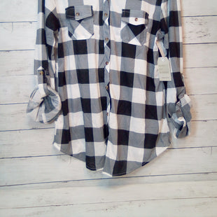 Primary Photo - BRAND: PASSPORT STYLE: BLOUSE COLOR: CHECKED SIZE: XL OTHER INFO: NEW!  BLK/WHITE SKU: 216-21612-83984