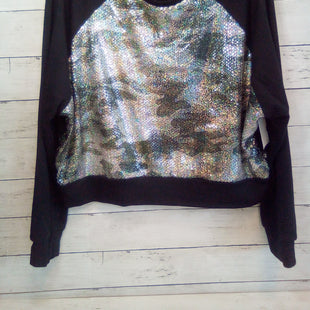 Primary Photo - BRAND:  CMB STYLE: TOP LONG SLEEVE COLOR: MULTI SIZE: S OTHER INFO: TEREZ - BLACK W/SEQUIN FRONT SKU: 216-21638-66694