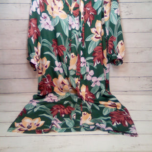 Primary Photo - BRAND: ANN TAYLOR LOFT STYLE: DRESS SHORT LONG SLEEVE COLOR: FLORAL SIZE: M OTHER INFO: GREEN  W/FABRIC BELT SKU: 216-21612-88109
